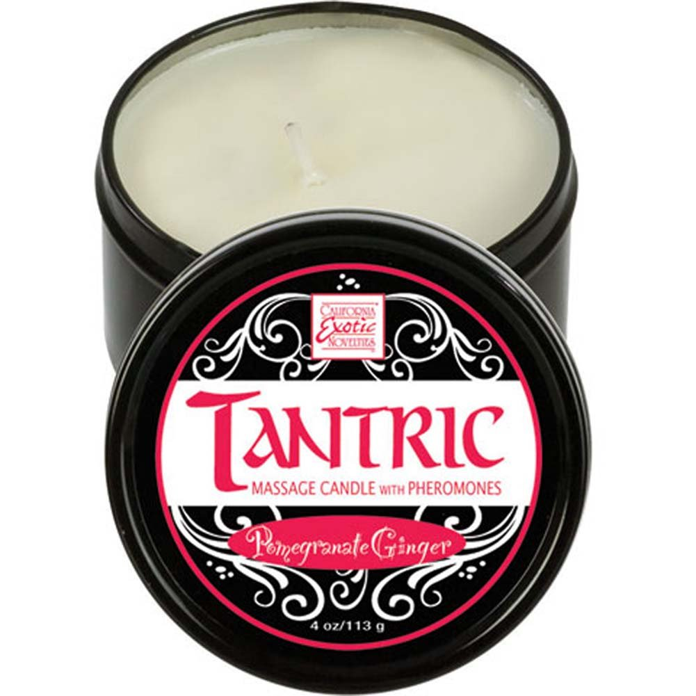 California Exotics Tantric Soy Massage Candle with Phermones Pomegranate Ginger - View #2