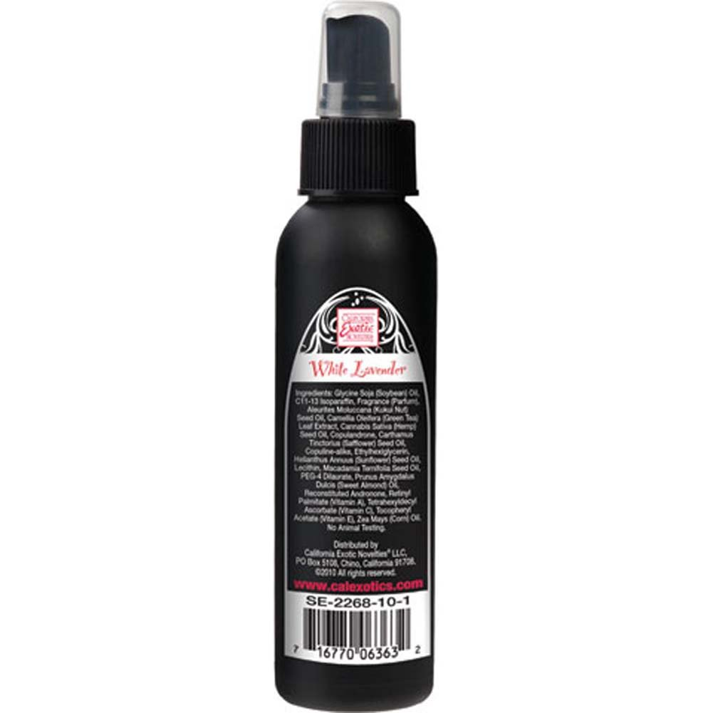California Exotics Tantric Pheromone Enriched Massage Oil 4 Fl.Oz 118 mL White Lavender - View #1