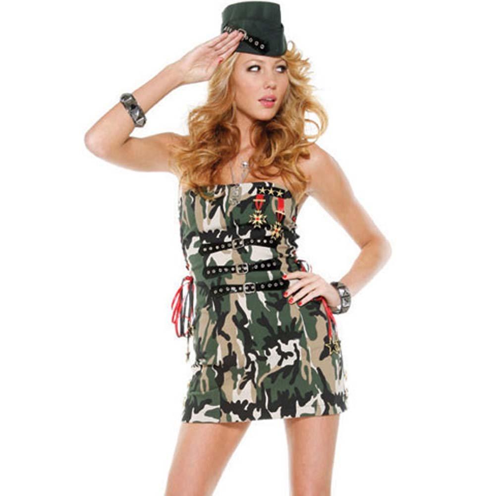 Flirty Soldier Costume Medium/Large - View #1