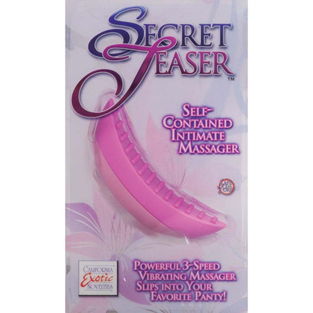 "Secret Teaser Silicone Vibrating Massager 3.25"" Pink - View #3"