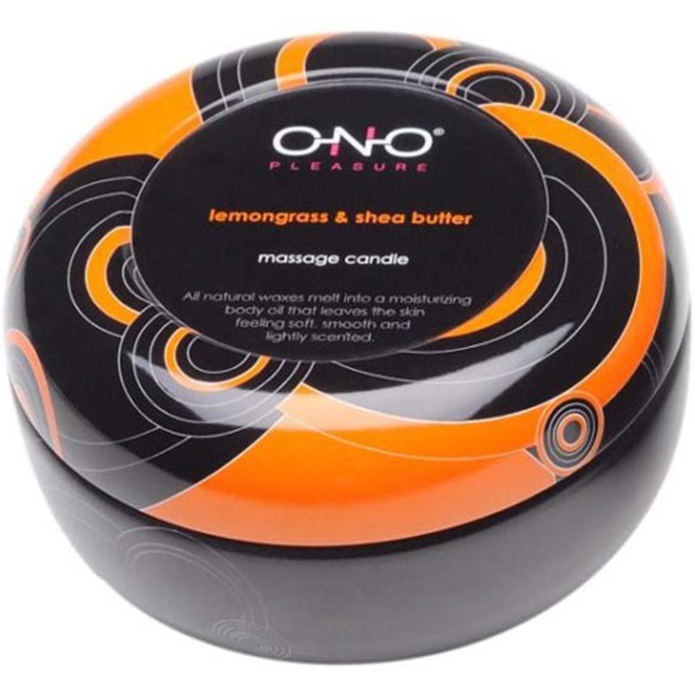ONO Pleasure Scented Massage Candle Lemongrass Shea Butter - View #2