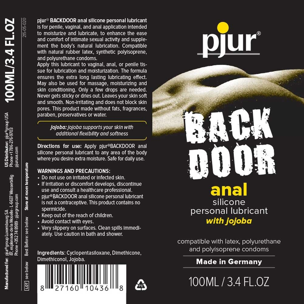 Pjur Back Door Relaxing Anal Glide Silicone Personal Lubricant 3.4 Fl.Oz 100 mL - View #4