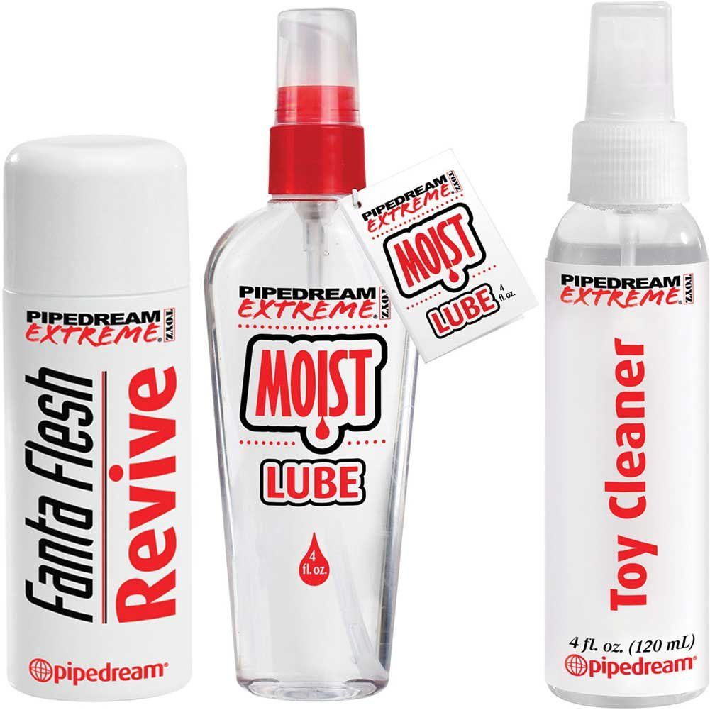 Pipedream Extreme Fanta Flesh Care Kit with Lube Cleaner and Revive 4 Fl.Oz 120 mL Each - View #2
