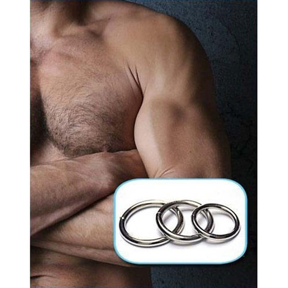 Steel Cock Rings 3 Pack - View #3
