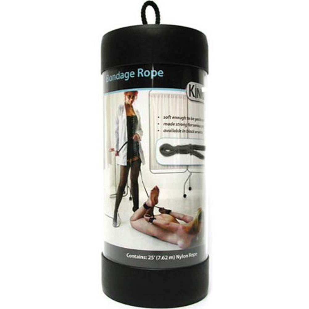 Bondage Rope 25 Feet Black - View #3