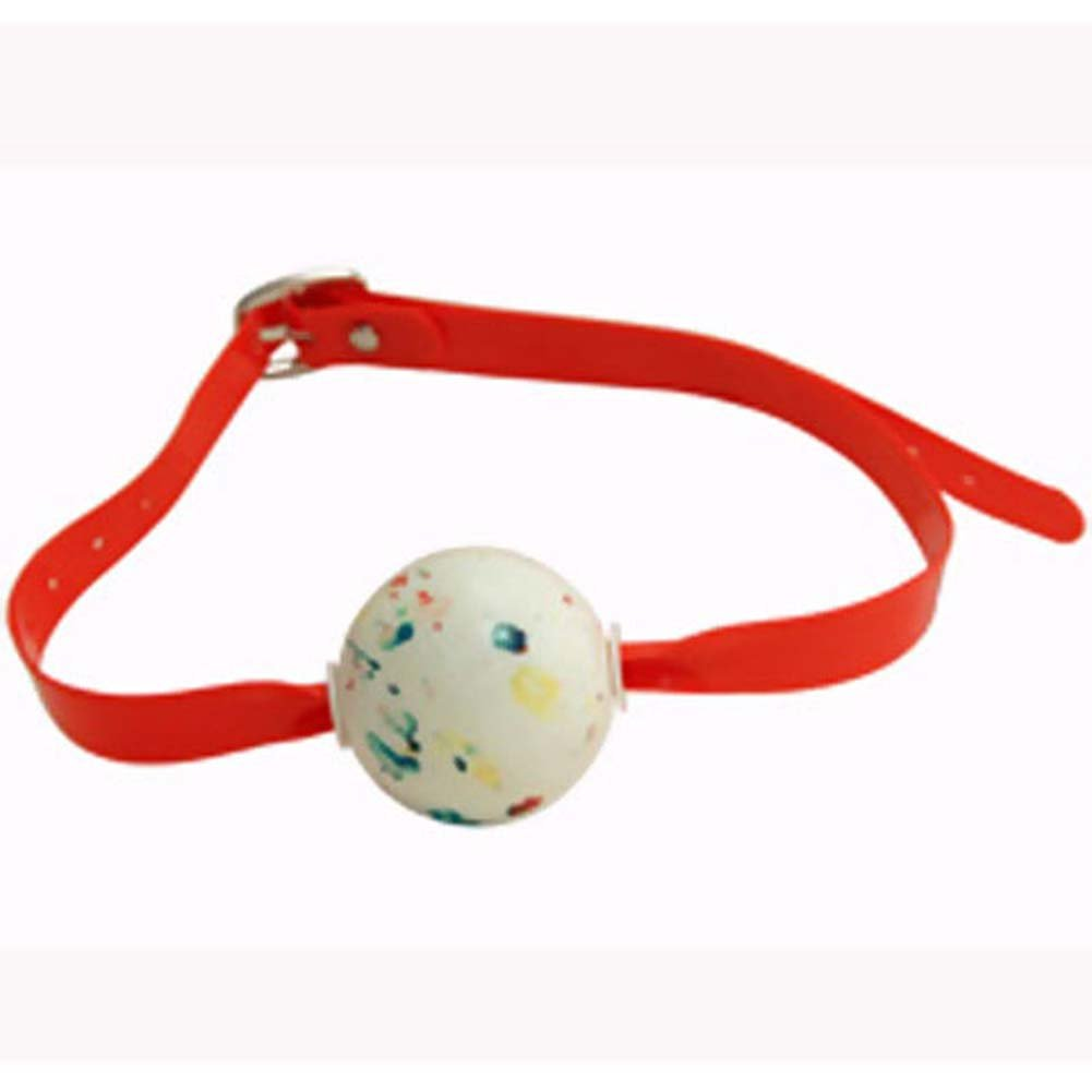 KinkLab Jawbreaker Ball Gag Red - View #2