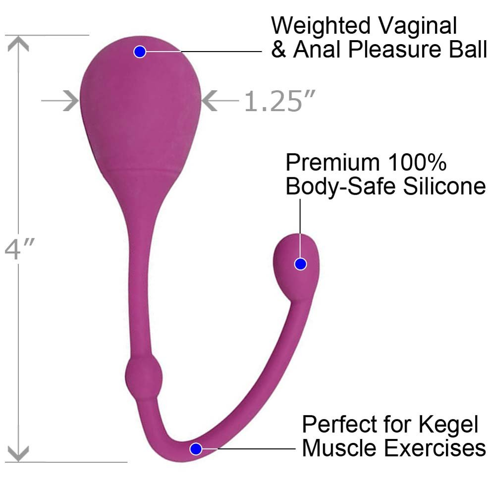 Velvet Kiss iOrgasm Round Tip Silicone Pleasure Ball Magenta - View #1