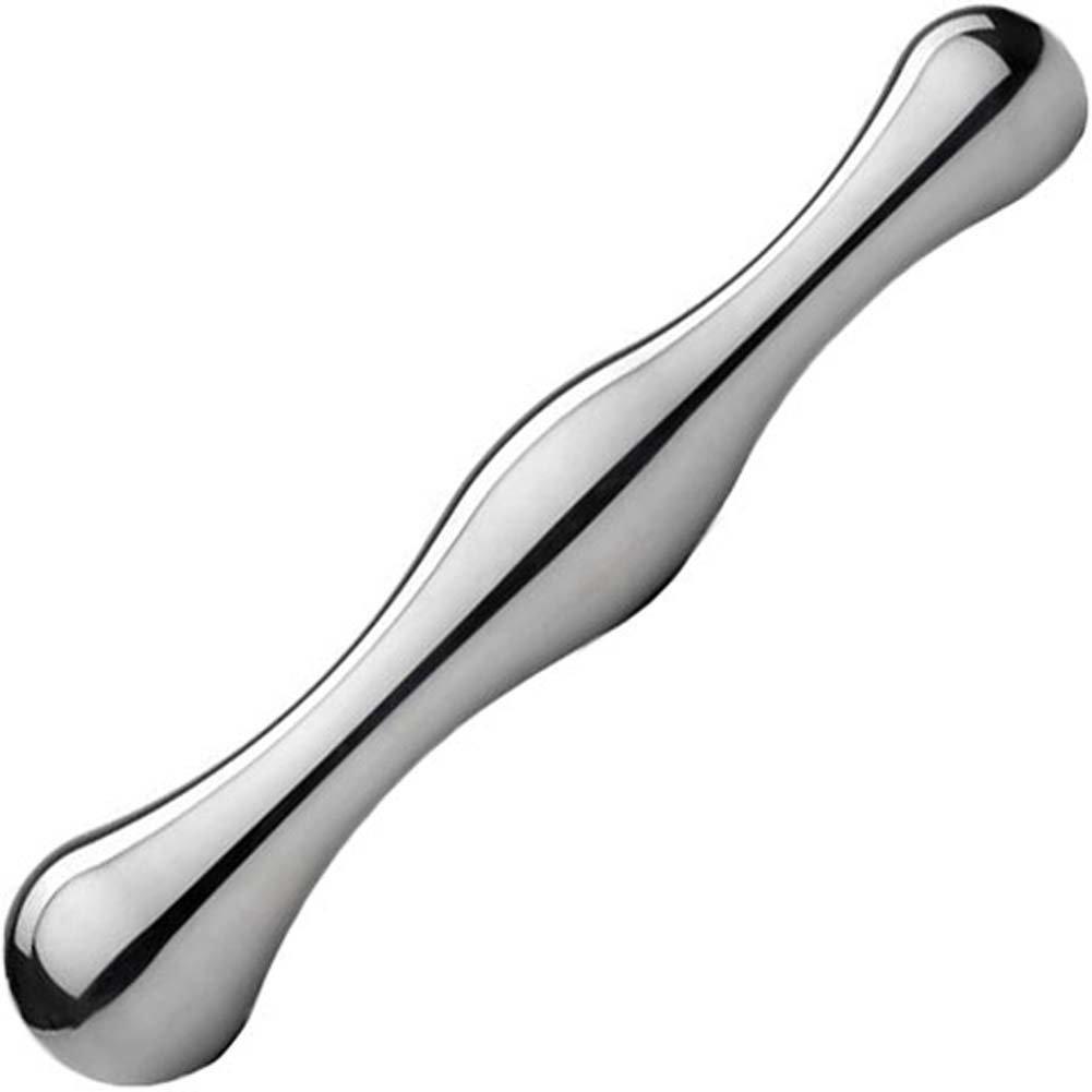 """Luxotiq Classic Aluminum Dildo 8"""" Silver - View #2"""