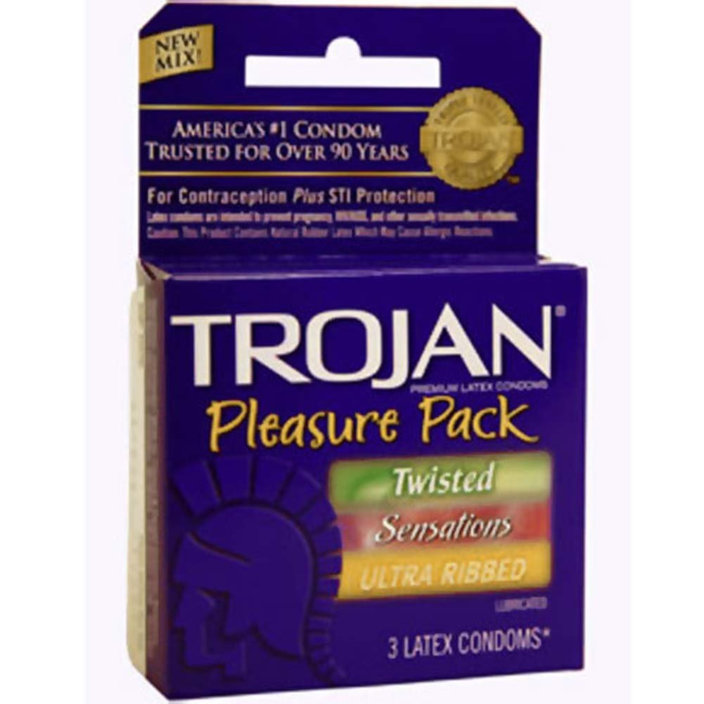 Trojan Pleasure Pack Lubricated Condoms 3 Pack - View #2