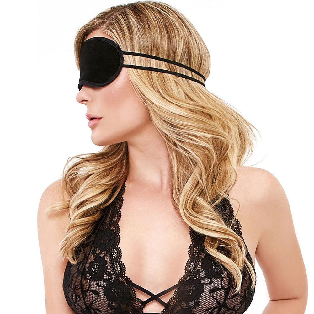 Lux Fetish Peek a Boo Love Mask Black - View #3