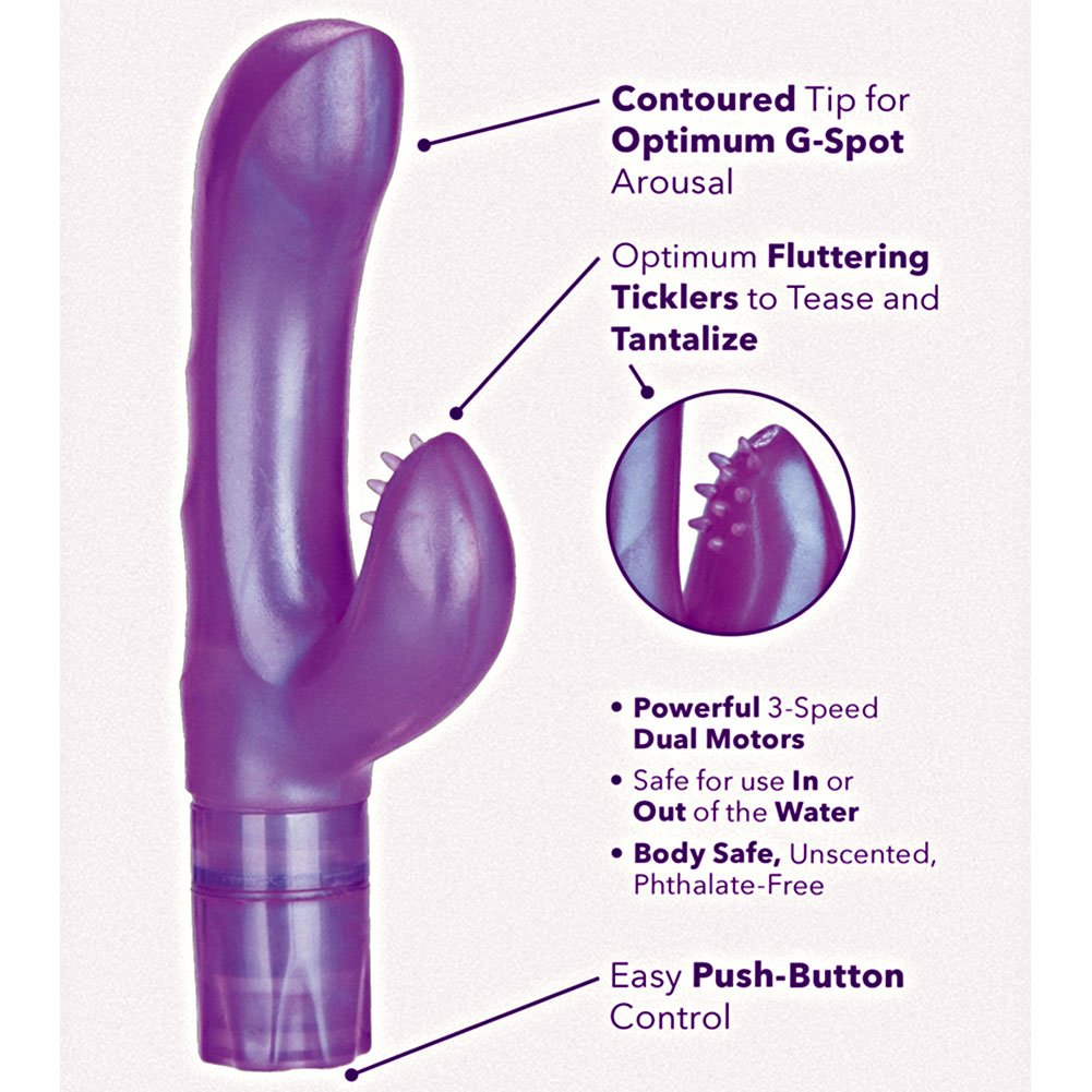"California Exotics G Kiss Waterproof Vibrator 7"" Purple - View #1"