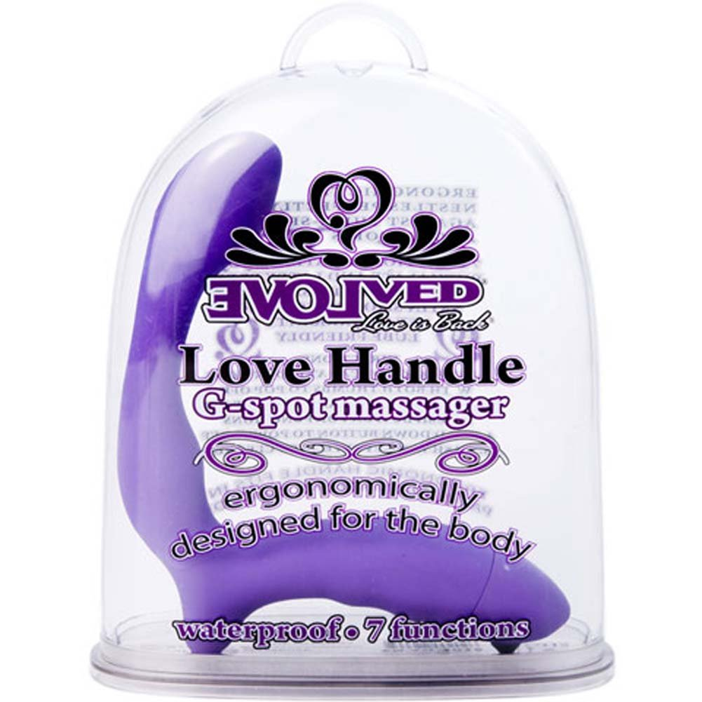 Love Handle Vibrating G-Spot Massager Purple - View #1