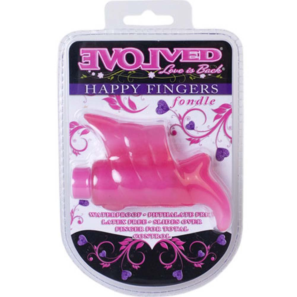 Happy Fingers Fondle Waterproof Intimate Vibrator Pink - View #4