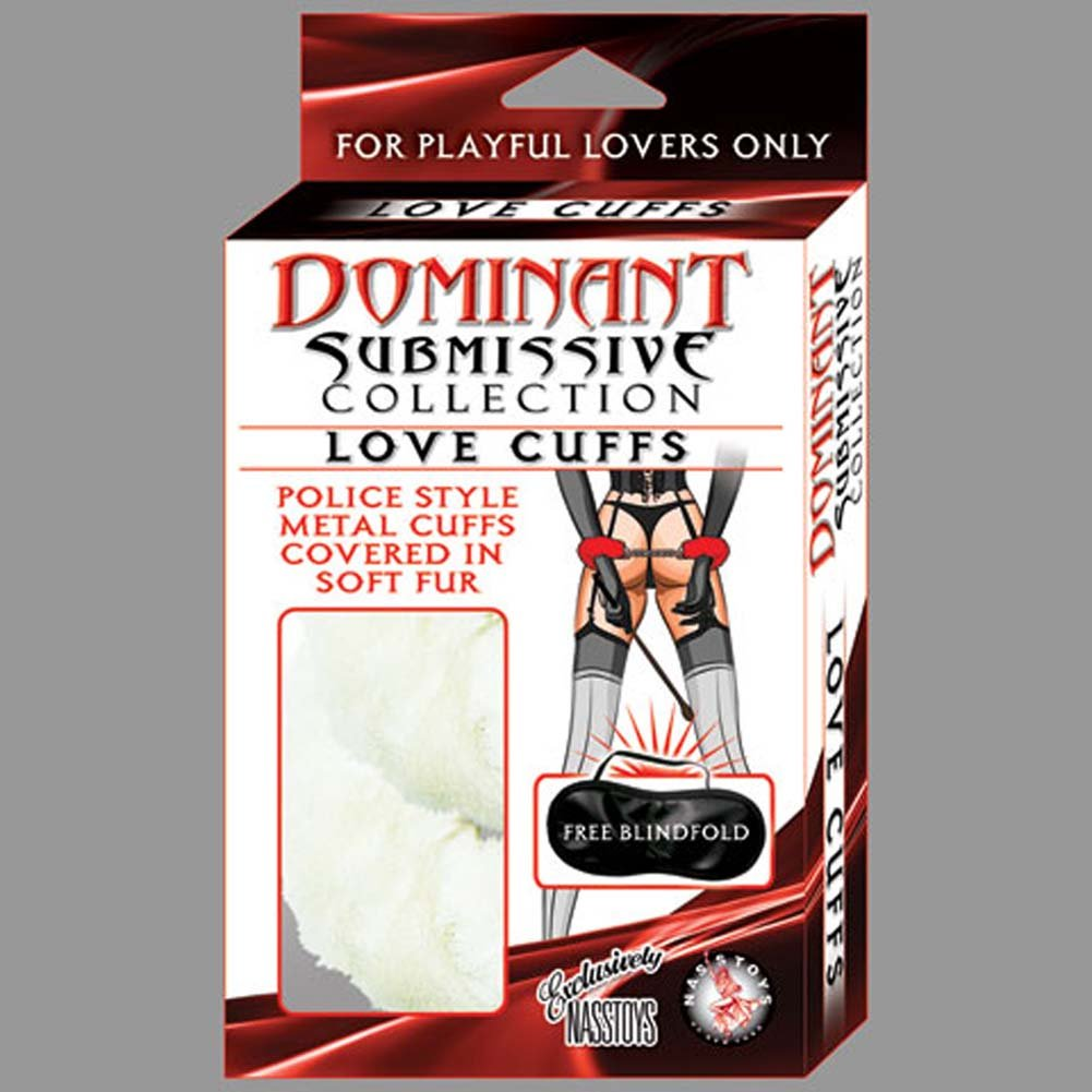 Dominant Submissive Collection Love Cuffs White - View #1