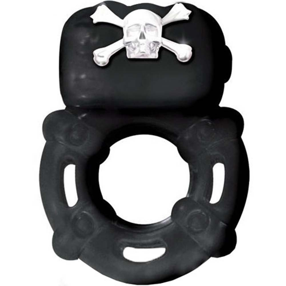 Bad Bone Barrel Vibe Skull and Bones Pleasure Ring Black - View #1
