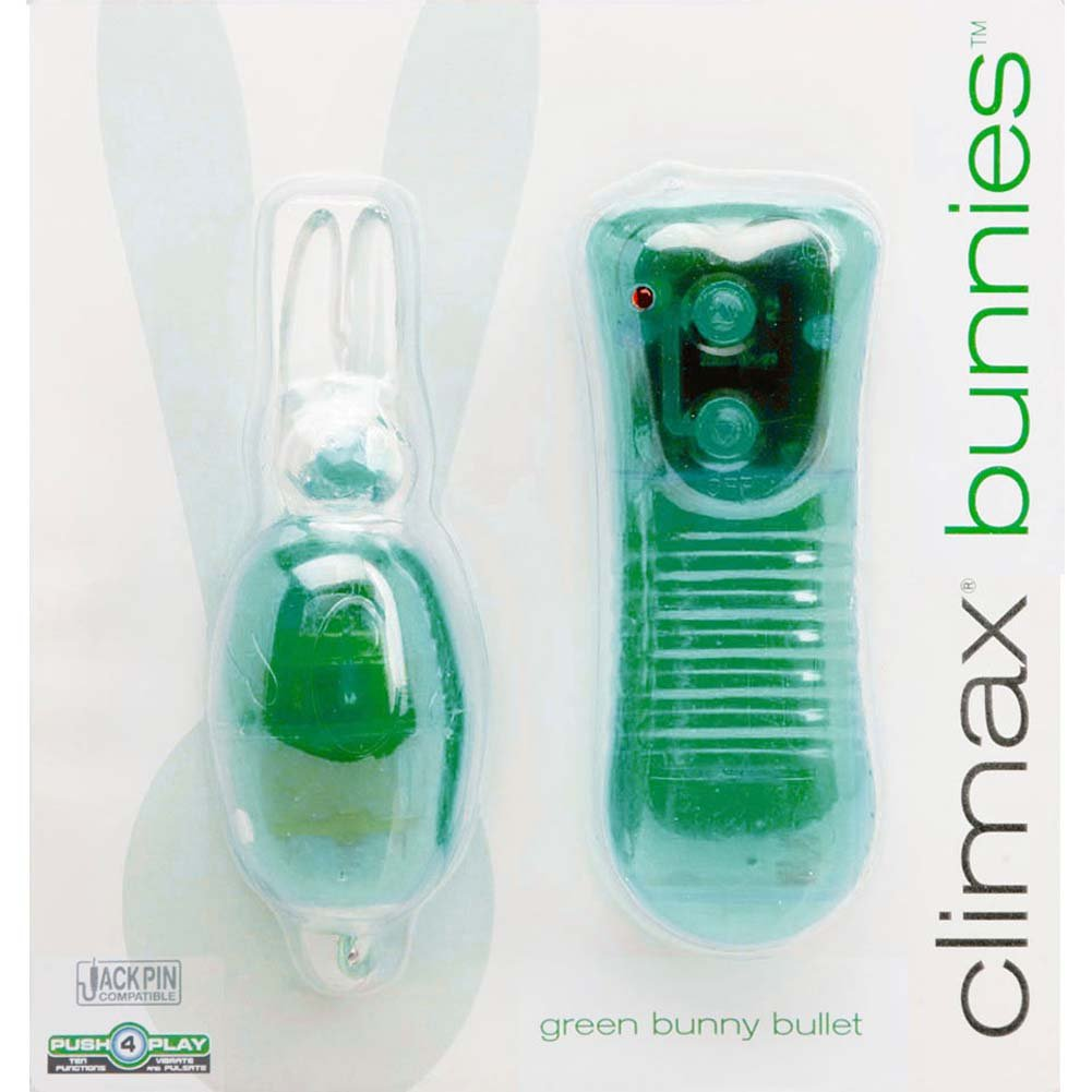 Climax Bunnies Vibrating Bullet with Wired Control Green - View #1