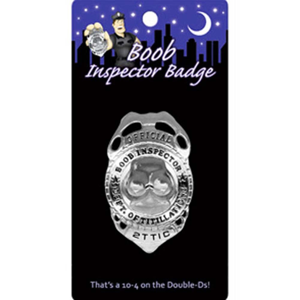 Official Boob Inspector Badge Silver - View #1