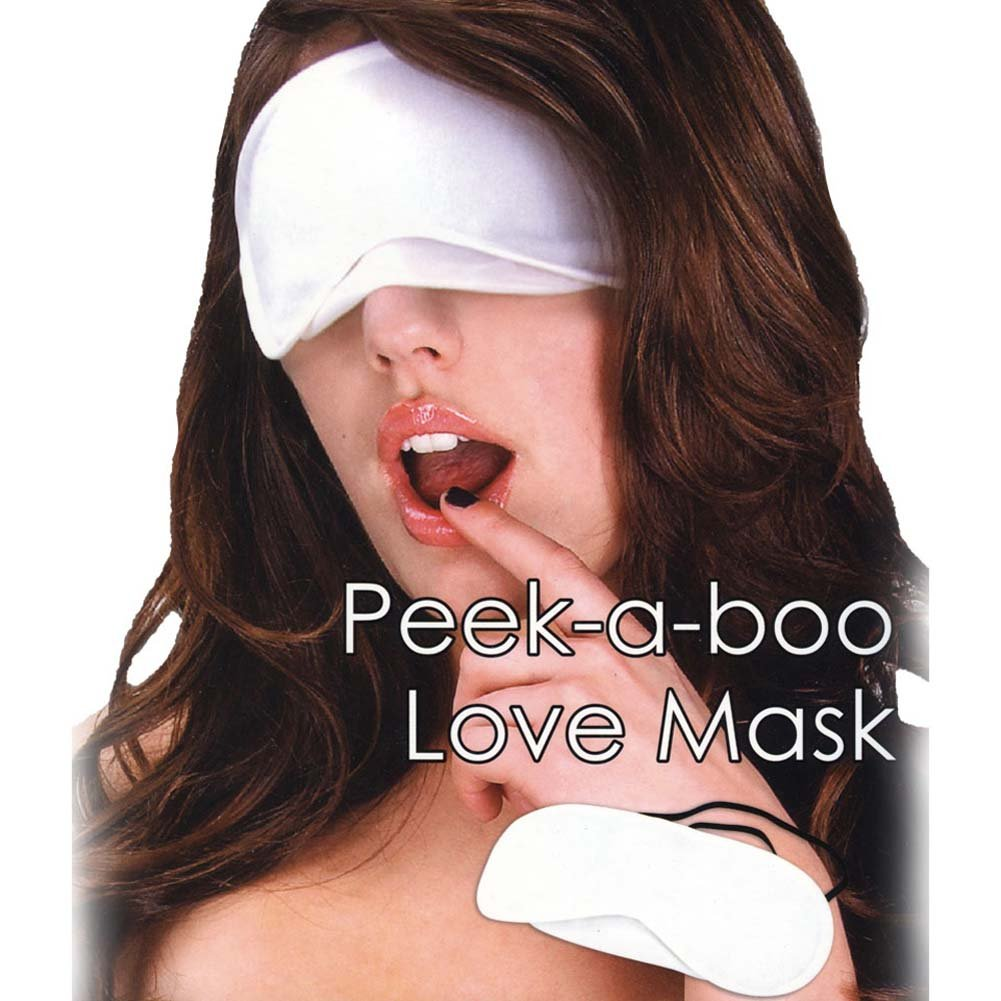 Lux Fetish Peek A Boo Love Mask White - View #1