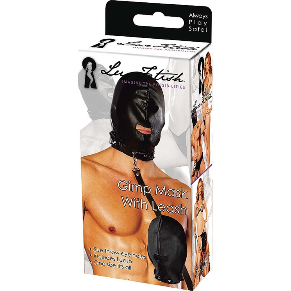 Lux Fetish Gimp Mask with Leash - View #3