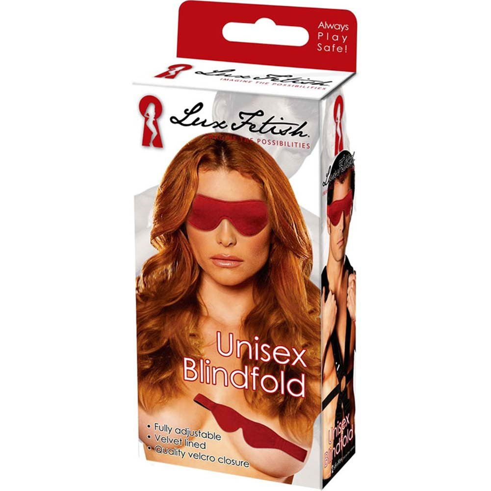 Lux Fetish Unisex Blindfold Red - View #3