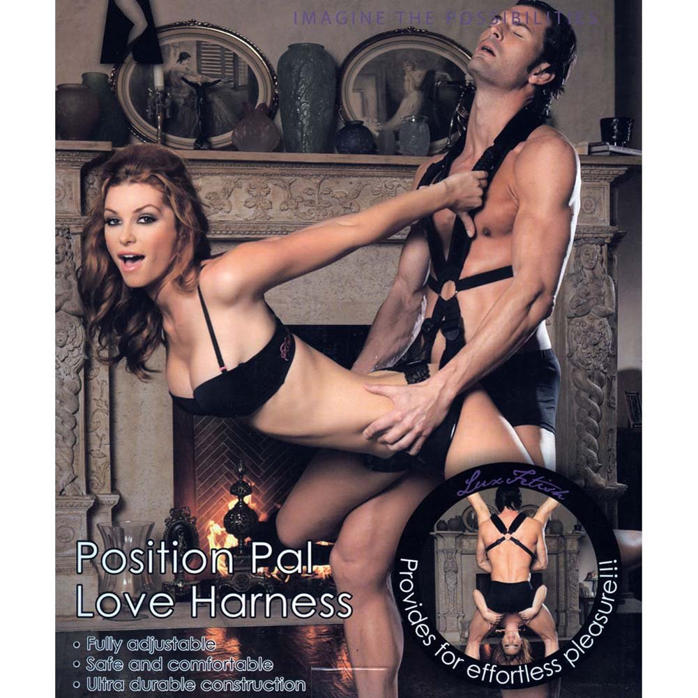 Lux Fetish Position Pal Love Harness Black - View #3