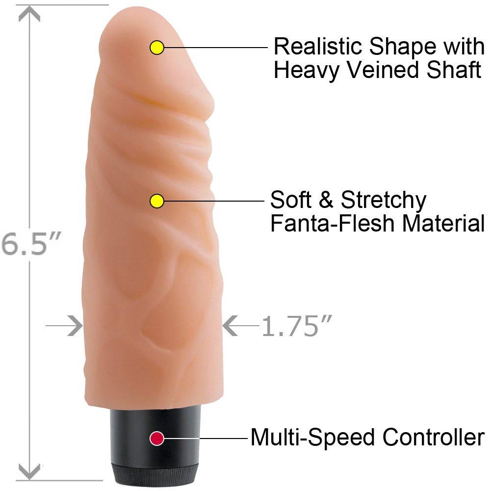 "Real Feel Lifelike Toyz No. 4 Fanta Flesh Vibe 6"" Natural - View #1"