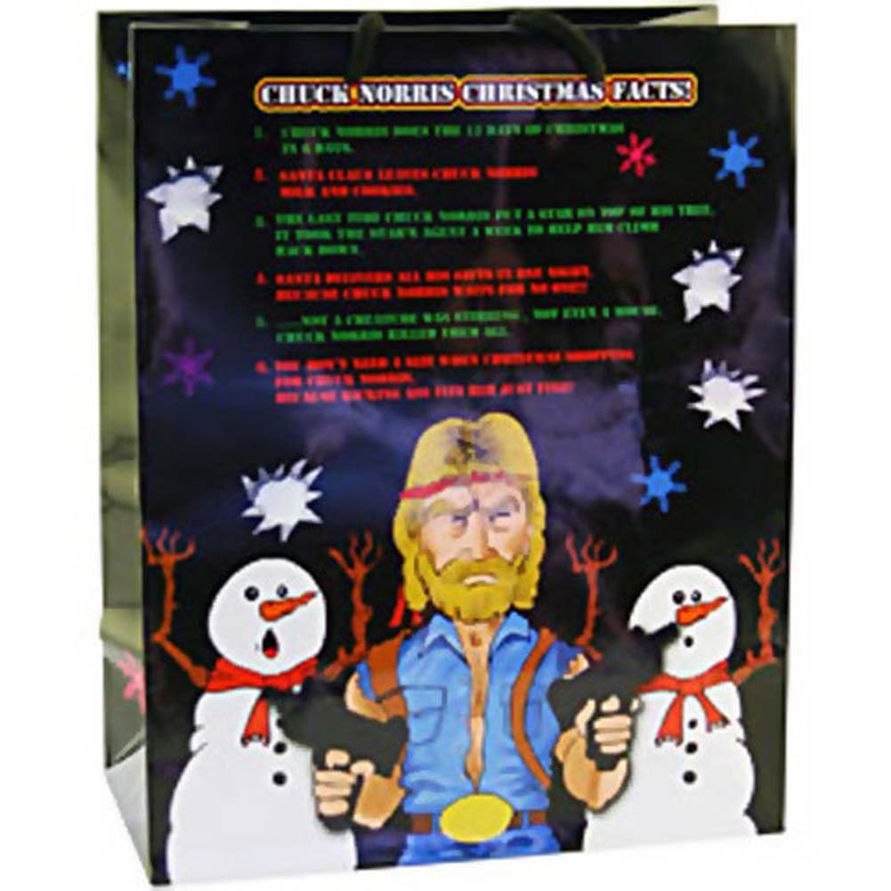 Chuck Norris Christmas Facts Gift Bag - View #1