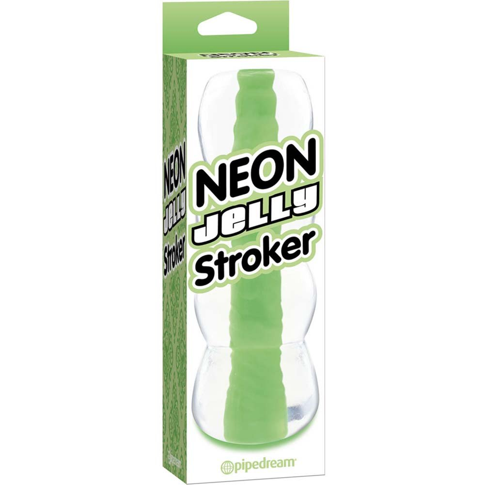 "Neon Luv Touch Jelly Stroker Male Masturbator 6"" Green - View #1"