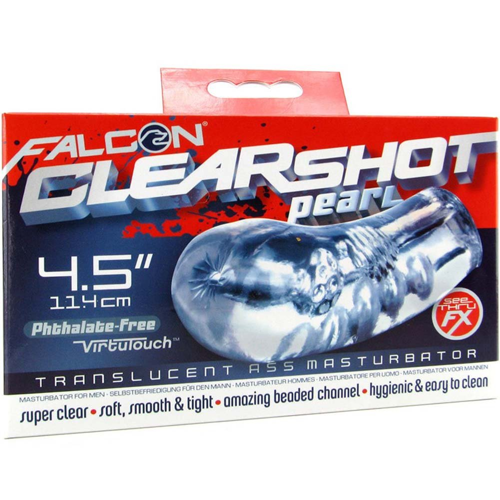 "Falcon Clear Shot Pearl Ass Jelly Masturbator 4.5"" Clear - View #4"