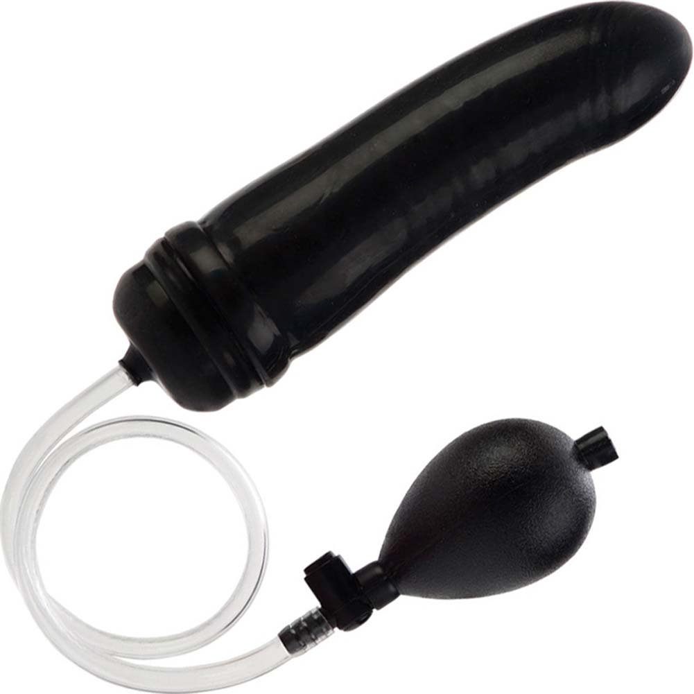 "California Exotics COLT Hefty Inflatable Butt Plug 7.5"" Black - View #2"