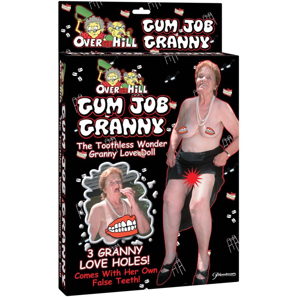Gum Job Granny Blow Up Doll - View #1