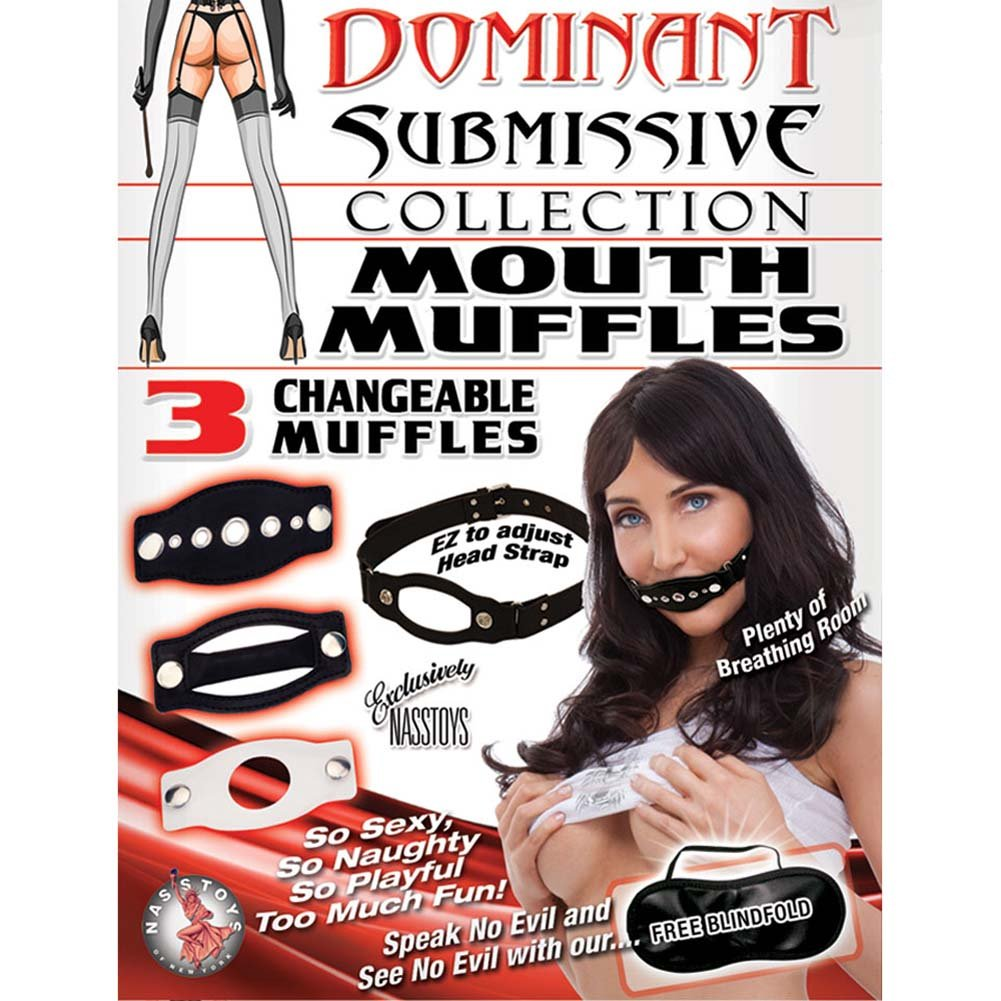 Dominant Submissive Mouth Muffle Black - View #1