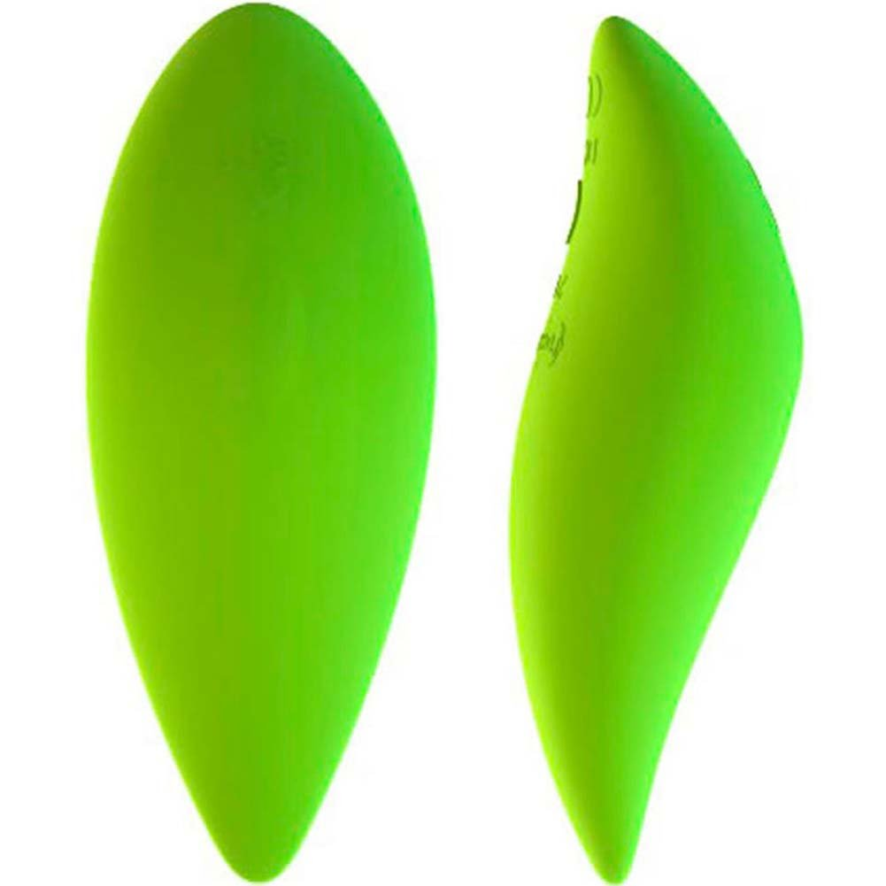 "Life by Leaf - Rechargeable Silicone Vibrator 4.5"" Green - View #2"
