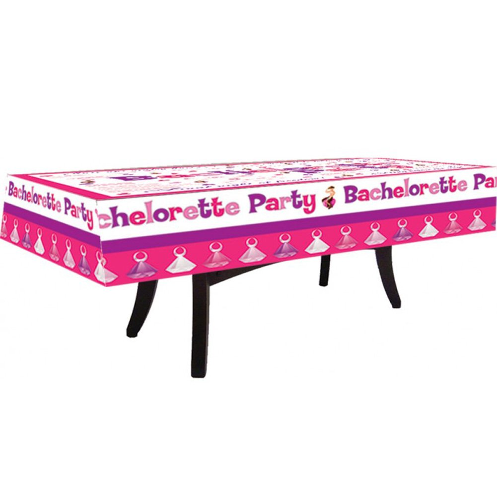 Bachelorette Party Tablecloth with Markers - View #2