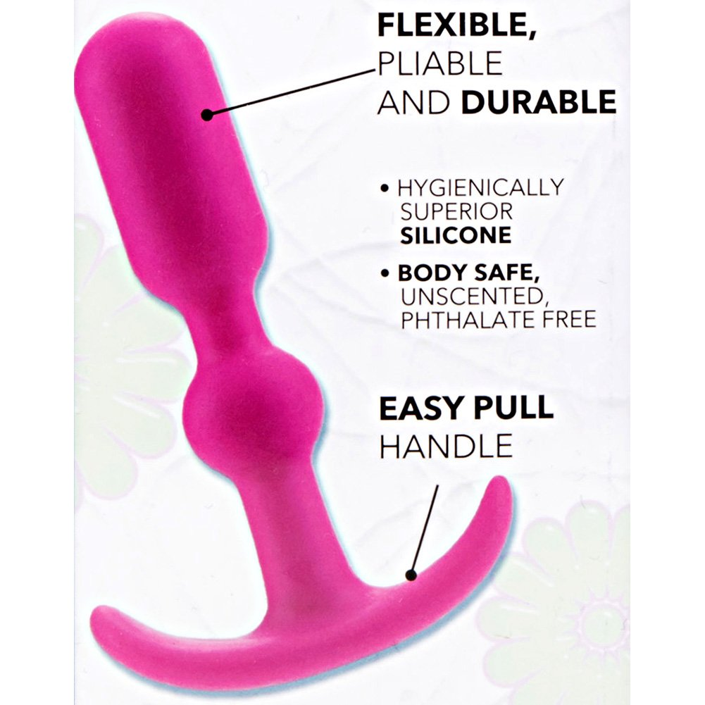 "California Exotics Booty Call Booty Teaser Silicone Anal Probe 4"" Pink - View #1"