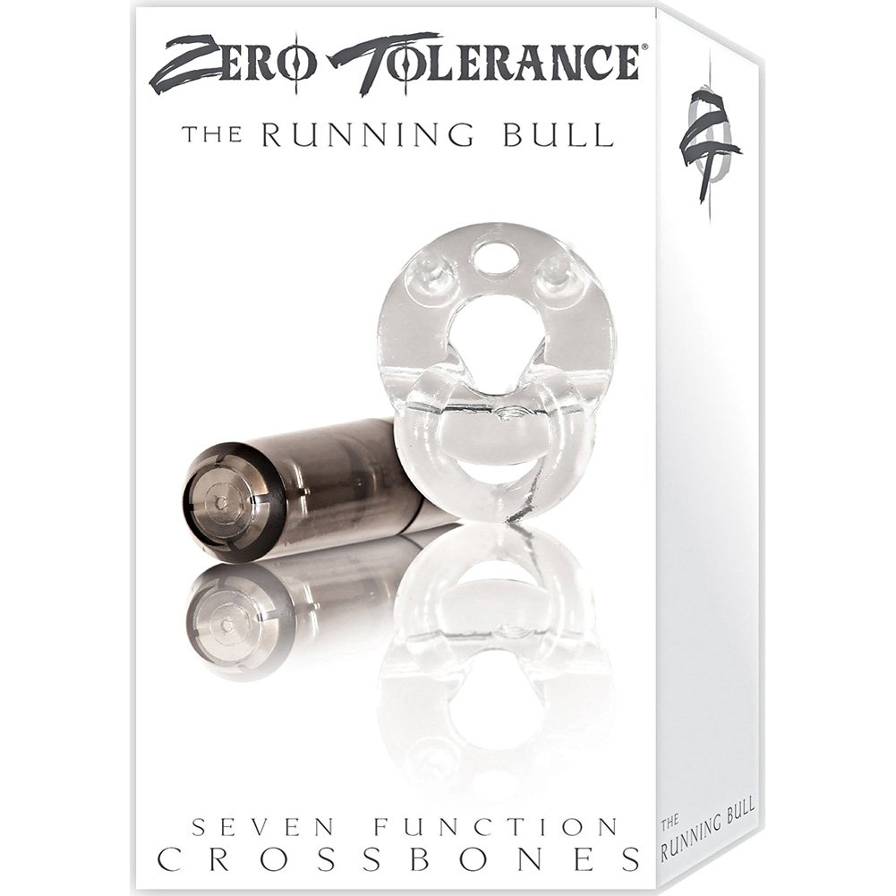 Crossbones Running Bull Single Bullet Vibrating Cockring Smoke - View #4