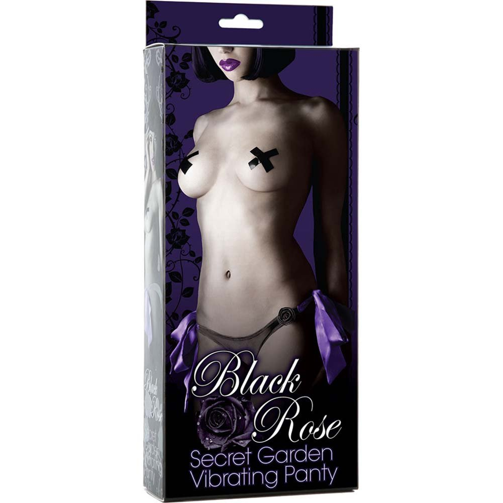Black Rose Secret Garden Vibrating Panties - View #3