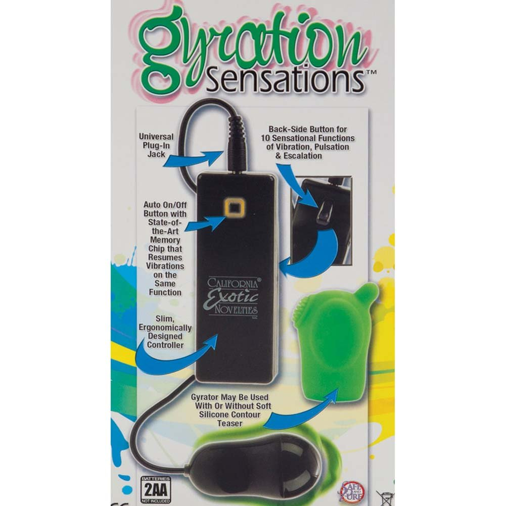 Gyration Sensations Gyrating Contour Vibrating Teaser Green - View #1
