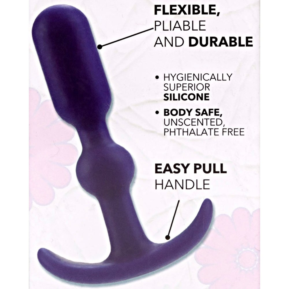 "California Exotics Booty Call Booty Teaser Silicone Anal Probe 4"" Purple - View #1"
