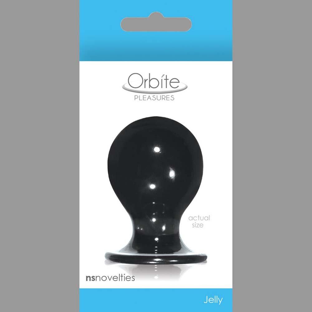 "Orbite Pleasures Medium Butt Plug 2.25"" Charcoal - View #1"