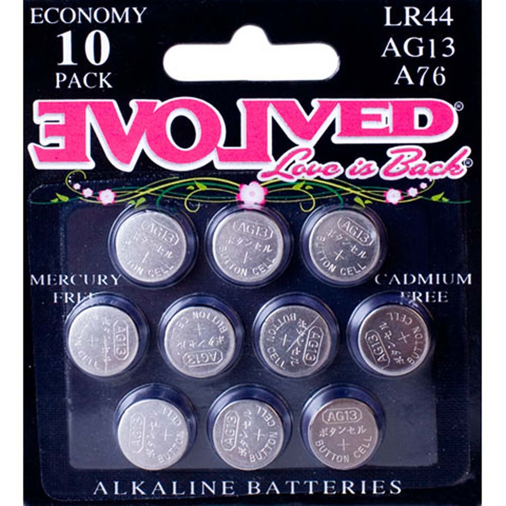 Evolved Novelties LR44 AG13 A76 Button Cell Battery 10 Pack - View #1