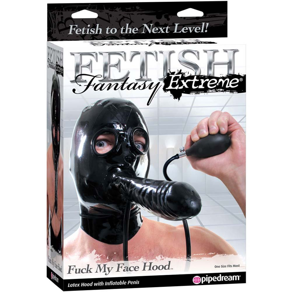 Fetish Fantasy Extreme Fuck My Face Inflatable Hood Black - View #4