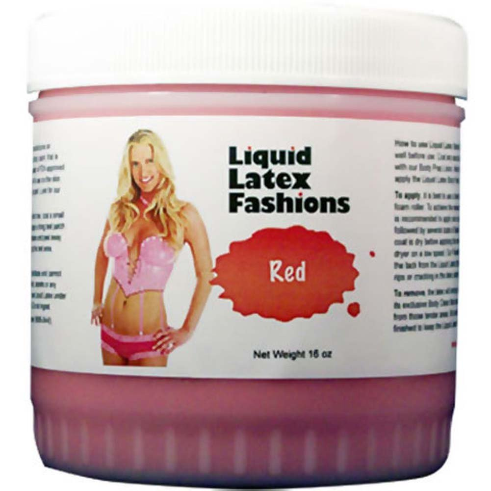 Liquid Latex Fashions Latex Body Paint 16 Oz. Red - View #1