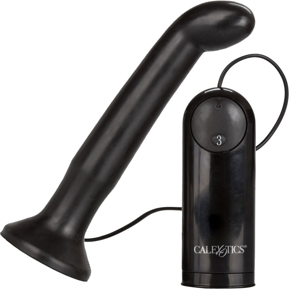 California Exotics Dr. Joel Kaplan EZ Reach Vibrating Prostate Probe Black - View #2