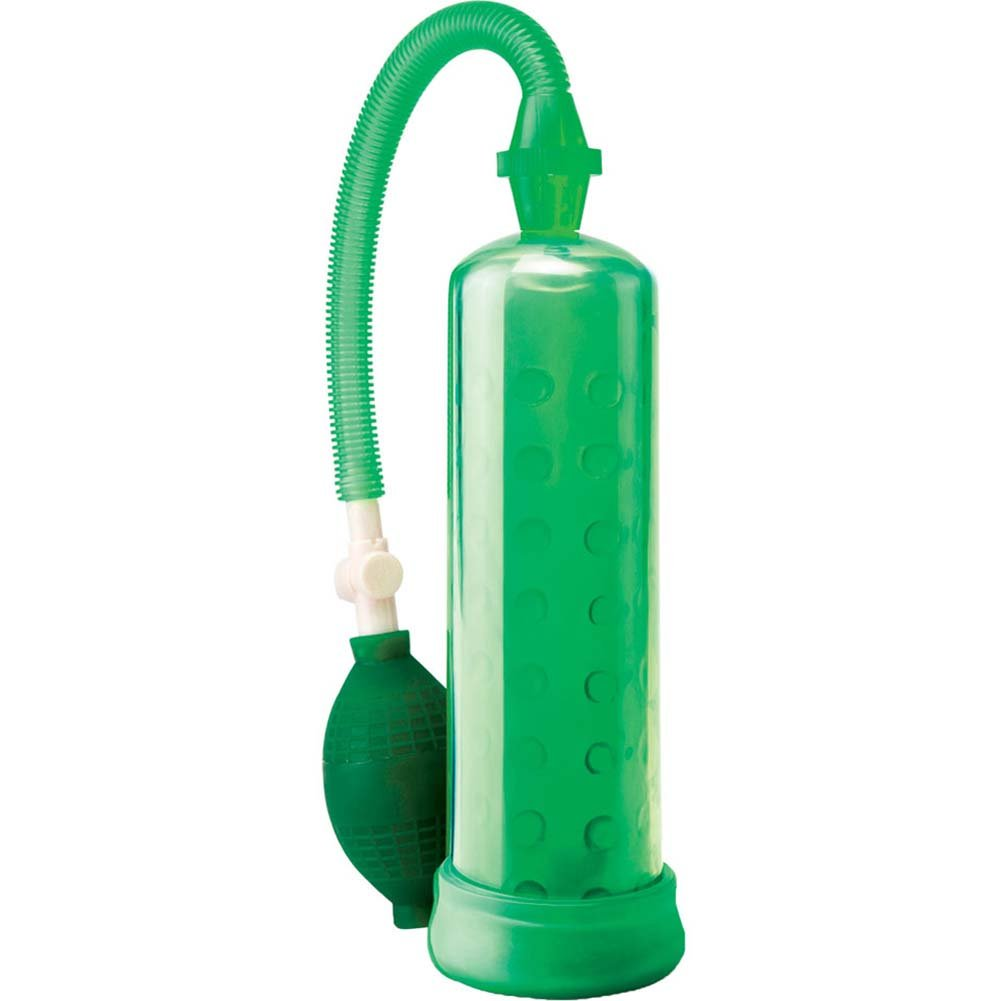 Pump Worx Silicone Power Pump with Enhancement Ring Green - View #2