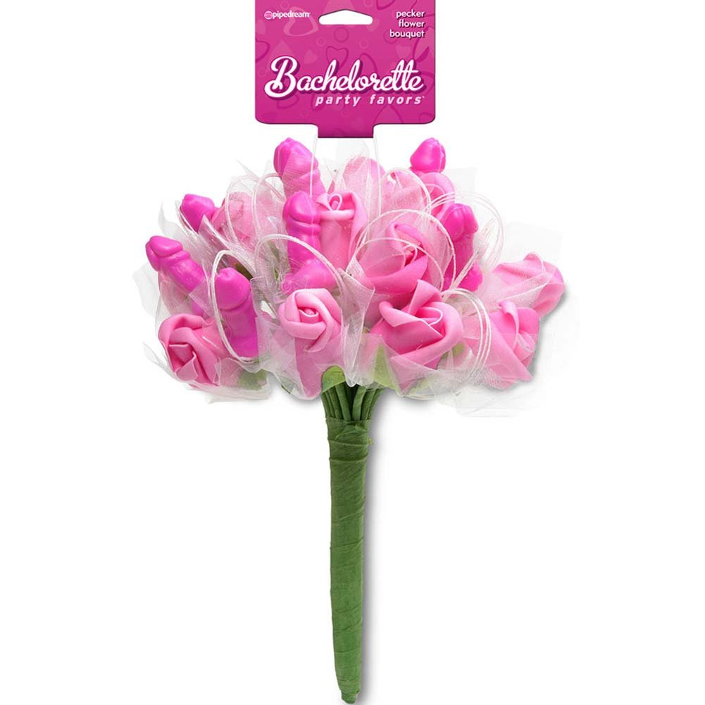 Bachelorette Party Favors Pecker Flower Bouquet Pink - View #2