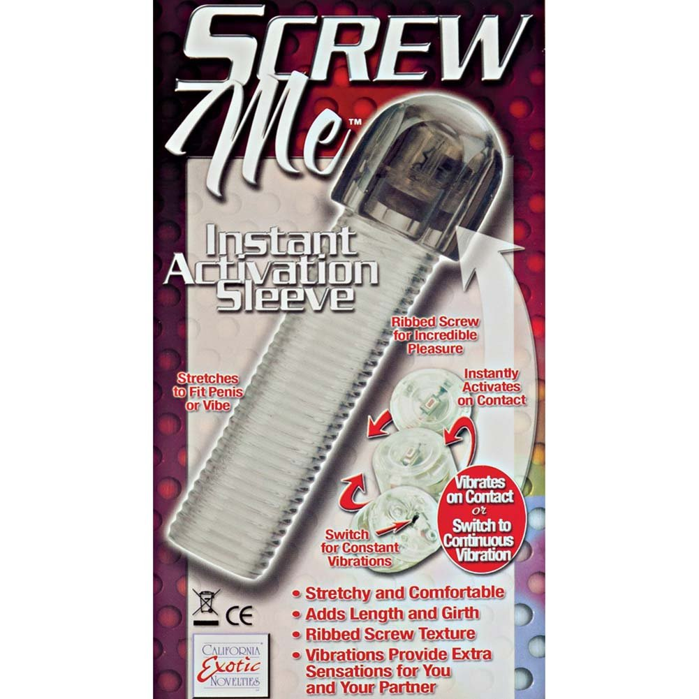 "Screw Me Instant Activation Sleeve 6.75"" Smoke - View #1"