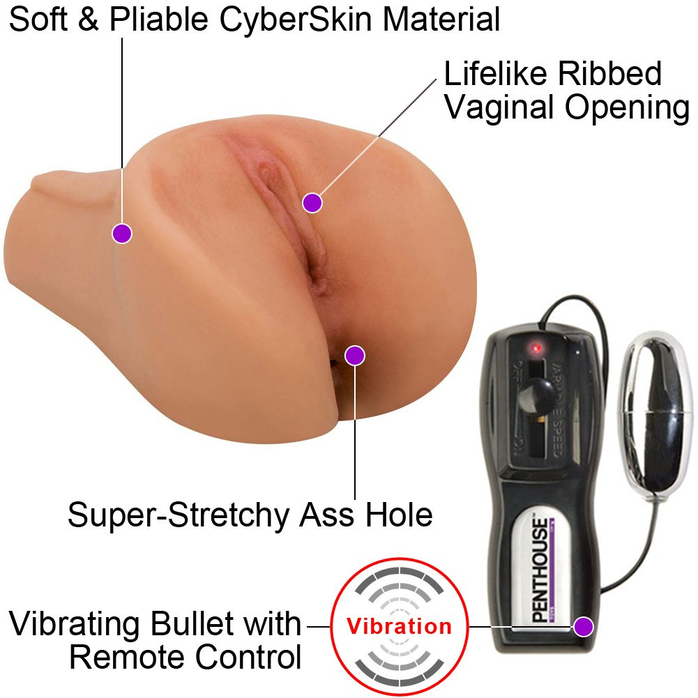 McKenzee Miles Vibrating CyberSkin Pet Pussy and Ass Stroker Male Masturbator - View #1