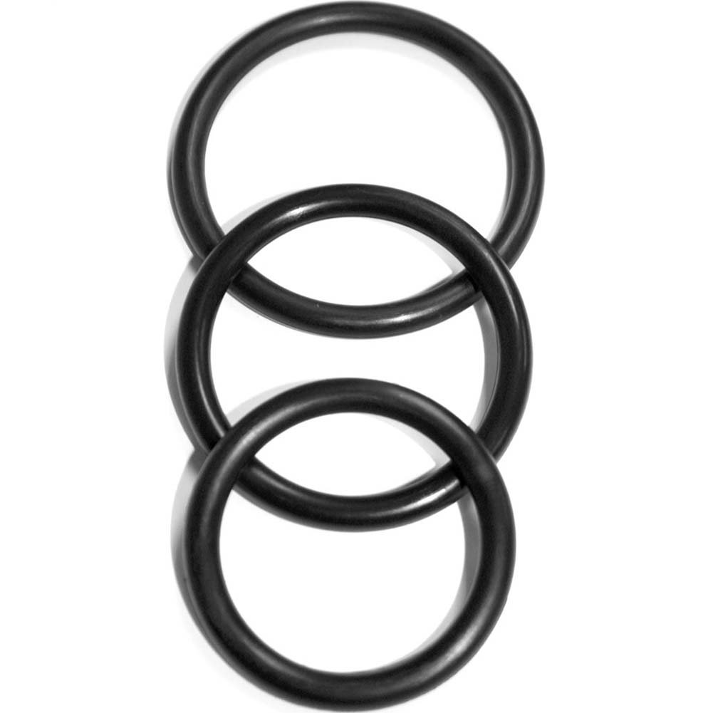 Sex and Mischief SM Nitrile Cock Rings 3 Pack Black - View #3