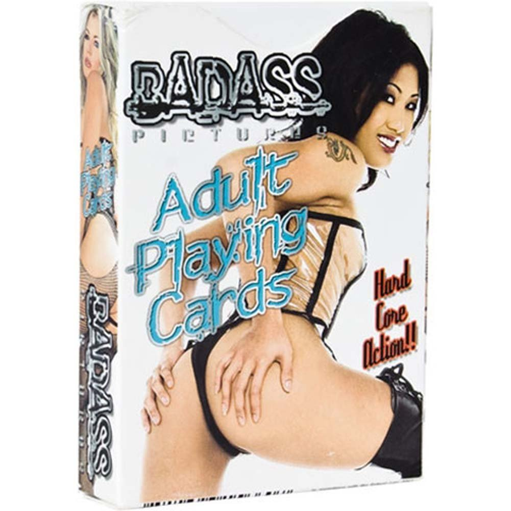 Badass Adult Playing Cards Red Deck - View #1